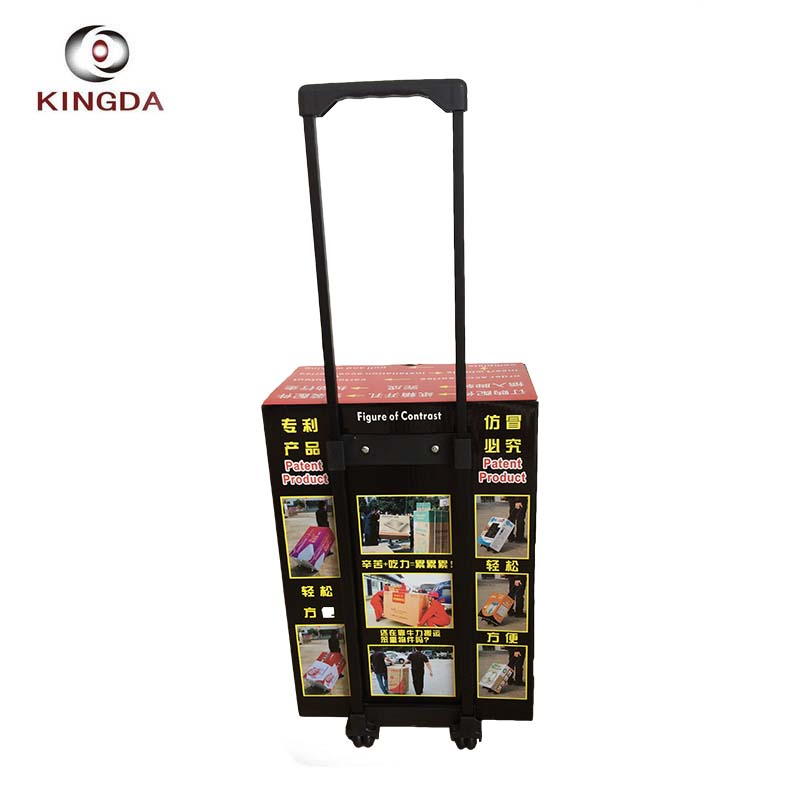 KINGDA top hot sale large order promotion carton box trolley handle