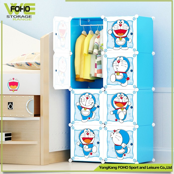 Wardrobe With 12 Pp Plastic Cubes And 2 Cloth Hangers Diy Corner ...