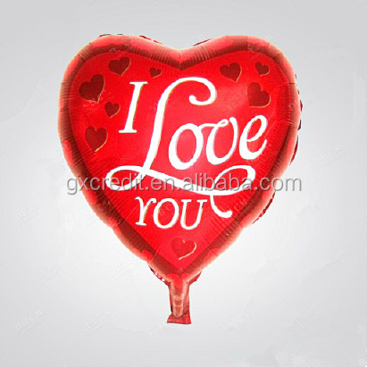 Heart shape foil balloons/Wedding decoration balloons/Inflatable helium foil balloons