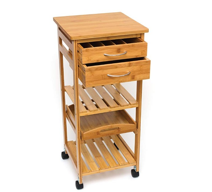 Trolley wood bamboo kitchen furniture