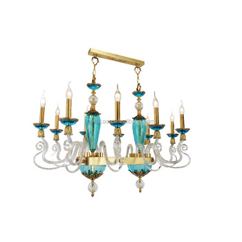 Simple russia style high quality glass arm copper chandelier with 10 simple russia style high quality glass arm copper chandelier with 10 lamps crystal lighting aloadofball Images