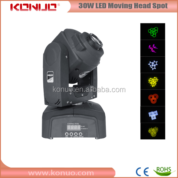 11 Channels With 3 Prism 30w Led Spot Mini Moving Head Light
