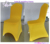yellow polyester universal stretch Christmas chair covers for Christmas Parties events