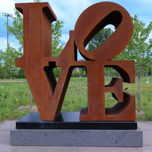Hot sale Large garden Corten steel Love sculpture robert indiana statue