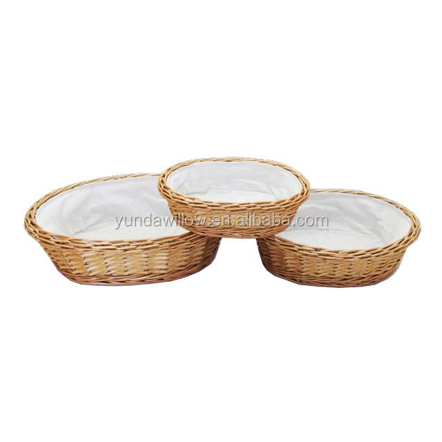 Custom Size Wicker Bread Basket Food