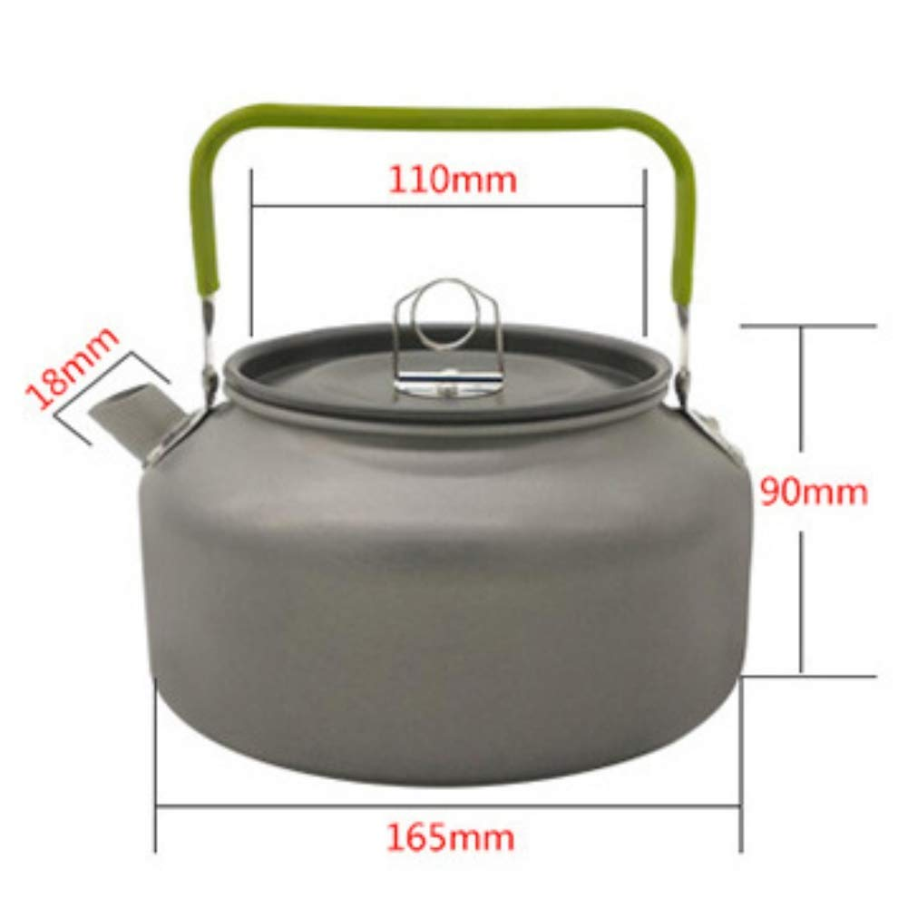 1a418eb959a Get Quotations · Taykoo Portable Lightweight Camping Kettle Hiking Tea Kettle  Camping Coffee Pot Aluminum Outdoor Hiking Kettle Camping