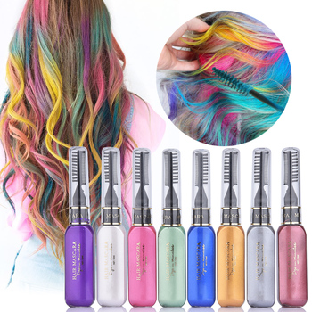 Washable Color Hair Wax Styling Pomade Temporary Chalk Hair Dye Touchup  Disposable Fashion Molding Coloring Mud Cream Home Salon - Buy Disposable  ...