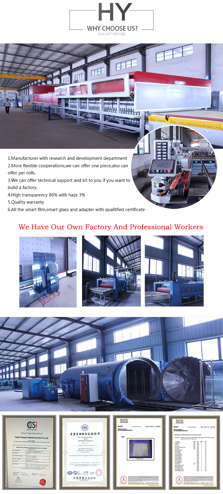 New Building Glass Windows and Door Customized Double Pane Blind Insulated Glass