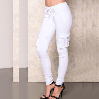 White two piece pants set women