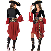 Halloween lady pirate costume cosplay character costume