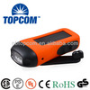 3 leds 2 modes solar dynamo flashlight with mobile phone charger TP-PH007