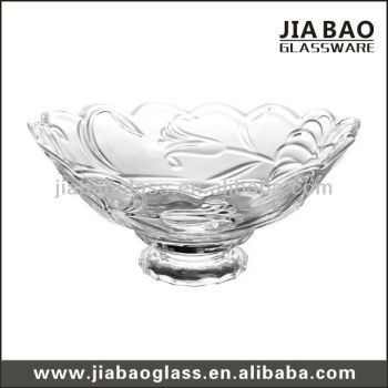 glass salad bowl with stand large decorative glass bow new design glass bowl - Decorative Glass Bowls