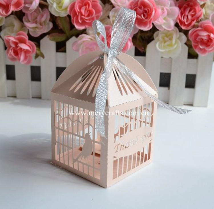 Cute Laser Cut Birdcage Bonbonniere Box Love Birds Wedding Favor Box ...
