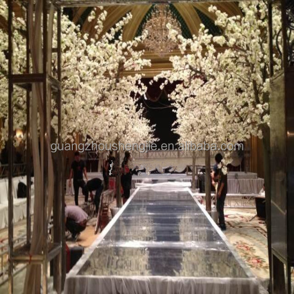Q020305 Factory White Tree Wedding Decor Silk Cherry