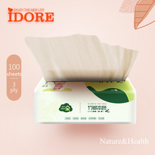 High Quality Virgun Bamboo Pulp Facial Tissue With Soft Pack for Coloured Facial Tissues