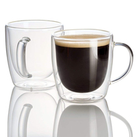 Coffee Tea Glass Mugs Drinking Glasses 15oz Double Walled Thermo Insulated Cups Latte Cappuccino Espresso Glassware