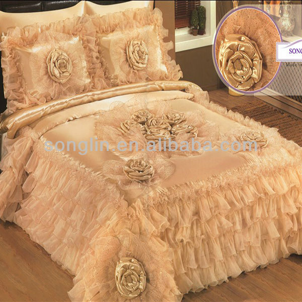 Handwork Patchwork Luxcury Jade Wedding Bedding Set Turkey And Middle East Style Duvet Cover Bedspread Product