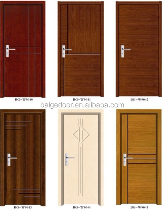 Bg w9312 wood door designs in pakistan buy wood door for Plain main door designs