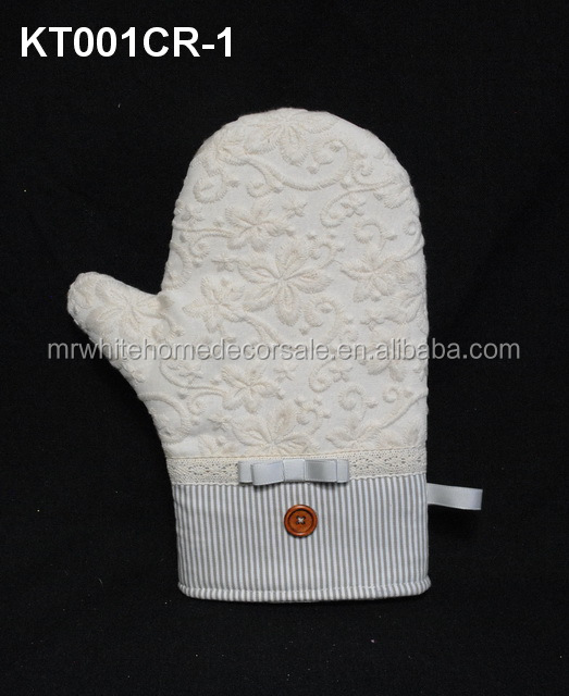 Promotional Fashional Patterns Custom Printed embroidered Oven Mitt wholesale cotton knitted gloves