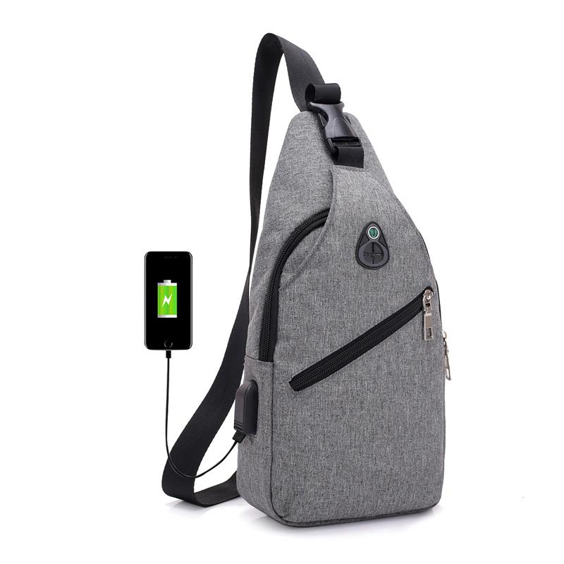 60% off 2018 hotsale stylish USB sling backpack chest bag , travel hiking sports walking sling backpack with one shoulder strap