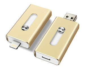 New 3in1 Kingstick Brand 8gb 32gb 64gb Mini Usb Metal Pen Drive /Otg Usb Flash Drive For iPhone 5/5s/5c/6phone 5 6 6s plus IOS 9