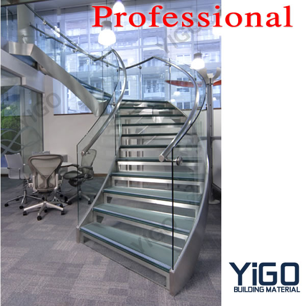 Great Modern Stainless Steel Curved Stair / Circular Staircases