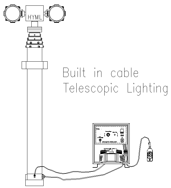 Vehicle Mounted Telescopic Mast Light Tower Telescoping
