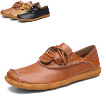 Men casual leather shoes cheap genuine leather shoes high quality leather casual shoes for men