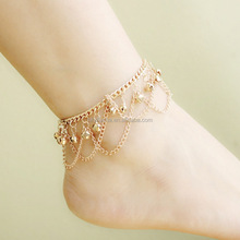 Belly dance women gold chain bells anklet SP6054