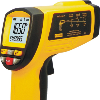1650 degree high temperature infrared thermometer GM1650