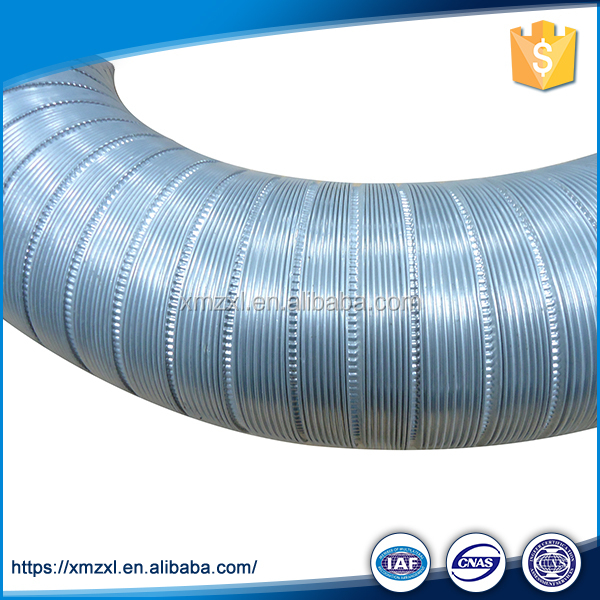 Flexible Semi Rigid Aluminum Duct , Lightweight Non - Insulated HVAC Air Ducts