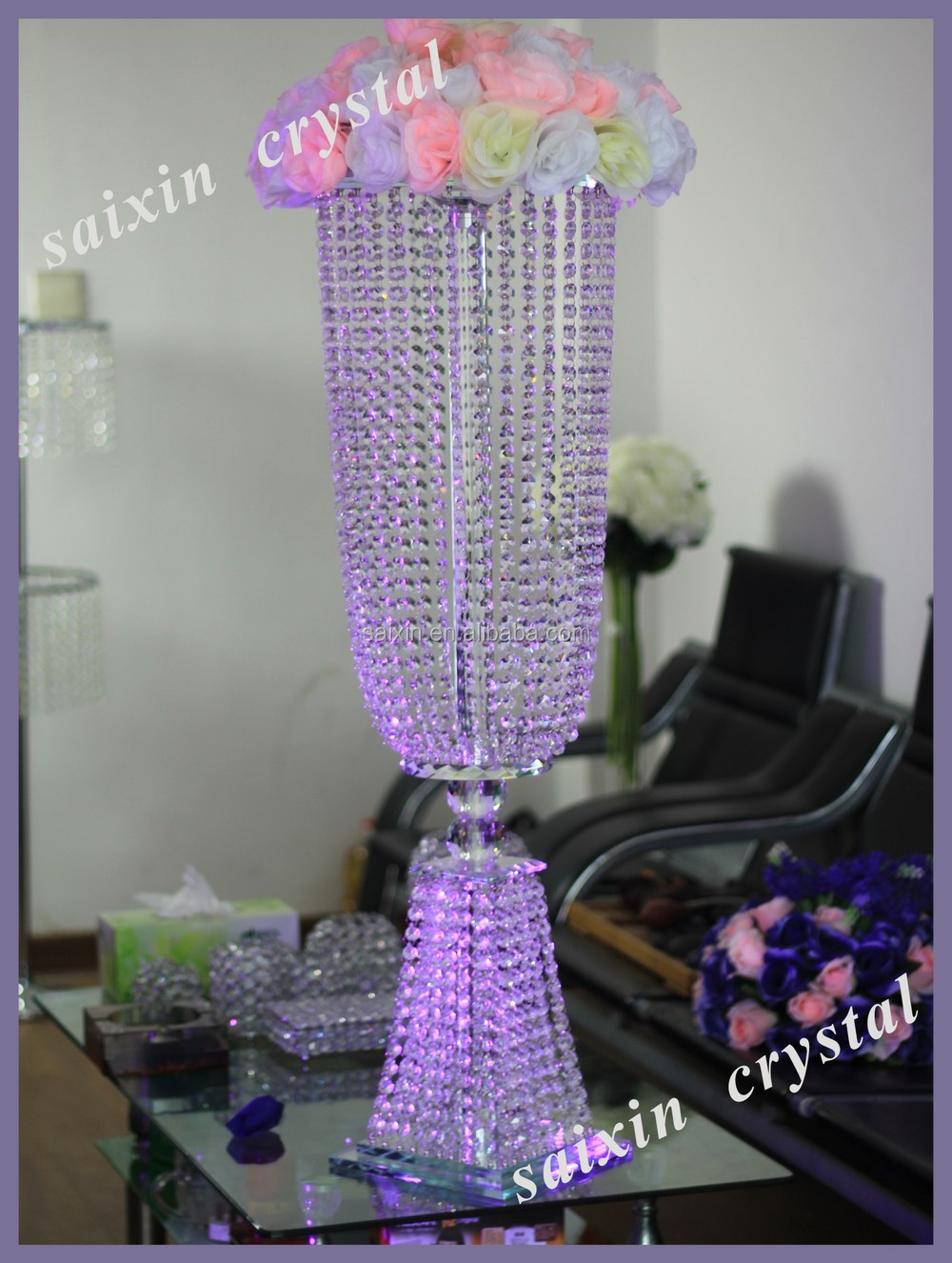 New design of crystal vase for wedding table centerpieces view more products please see httpsaixinenibaba junglespirit Images