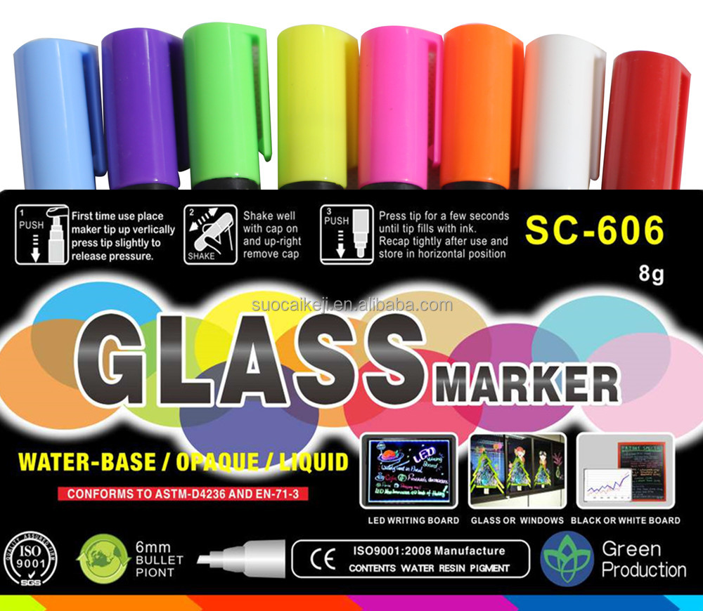 New chalk markers reversible tip/ steel paint marker