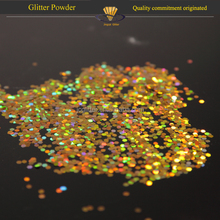 "1/64"" holographic gold acrylic glitter powder"