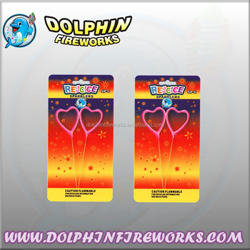 Custom Themed Party Heart Sparklers Fireworks