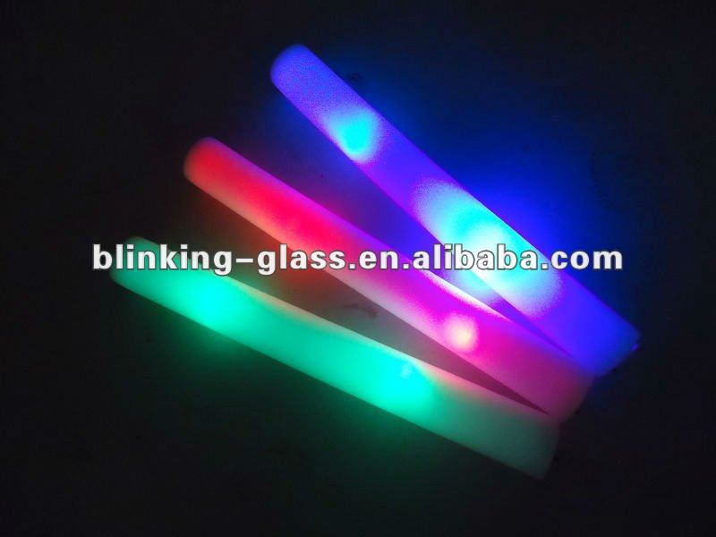 LED Glow stick foam flashing baton for concert promotion