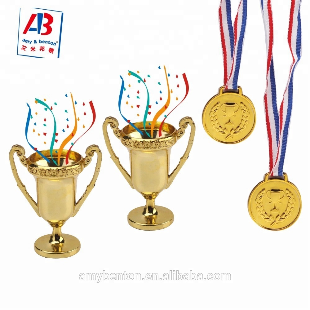 Good Price Cheap Shiny Golden Trophies Medals Set Winner Gift For Kids -  Buy Gift For Kids,Plastic Trophies,Cheap Award Medals Product on Alibaba com