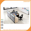 Modern t shaped office desk workstation for two person