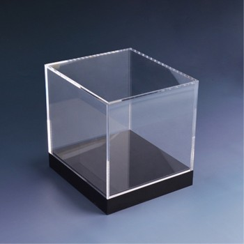 Clear Acrylic plastic gem stones car display box