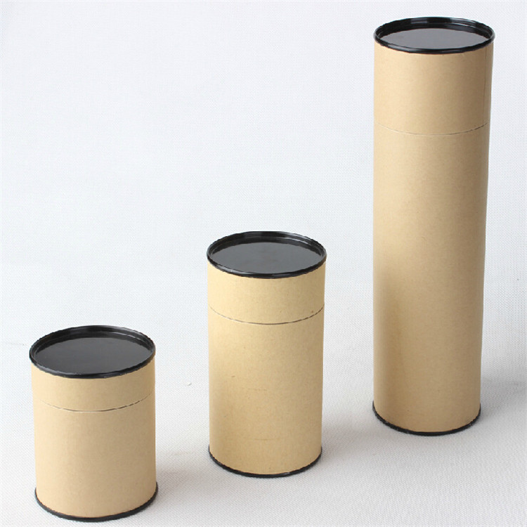 Oem di carta marrone mestiere tubo durevole avvolgimento tubi di carta eco-friendly tè del fiore cilindro kraft tubo di carta