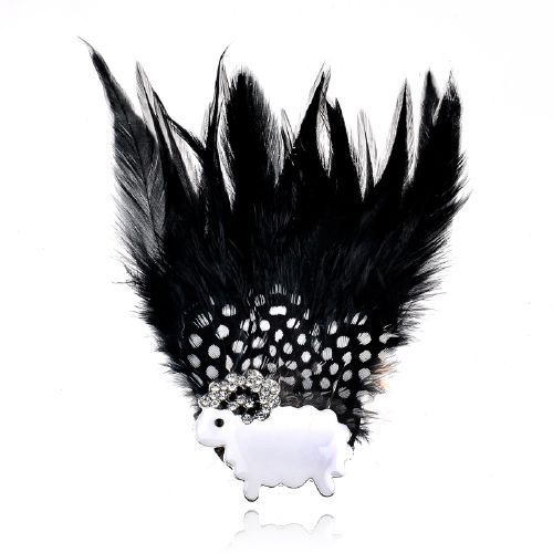 Latest Trendy Design custom feather brooch For Christmas Party