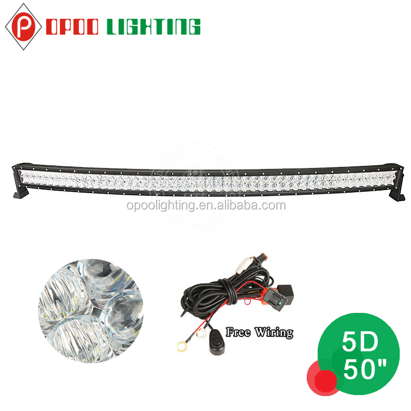 Offroad dual row 5d 50'' 288w curved led light bar