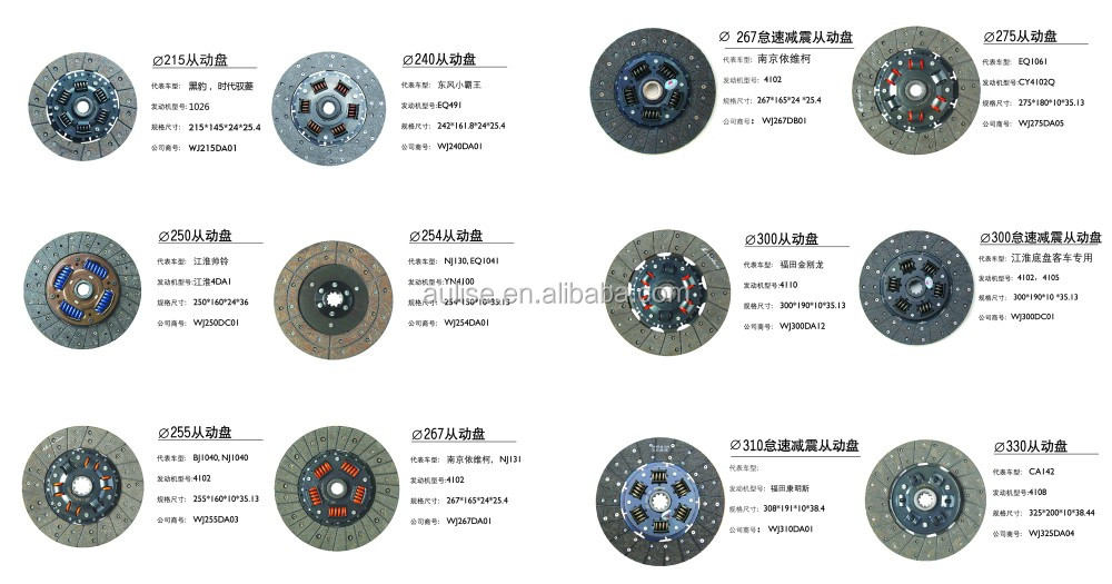 275MM 275*180*10*35.13 ORIGINAL OEM CLUTCH DISC for DONGFENG TRUCK DISCO DE EMBRAGUE
