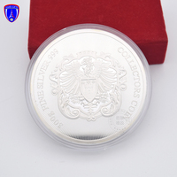 Factory direct die casting fine 300g 999 pure silver two sides pure silver gold rotatable double coin collectors challenge coin