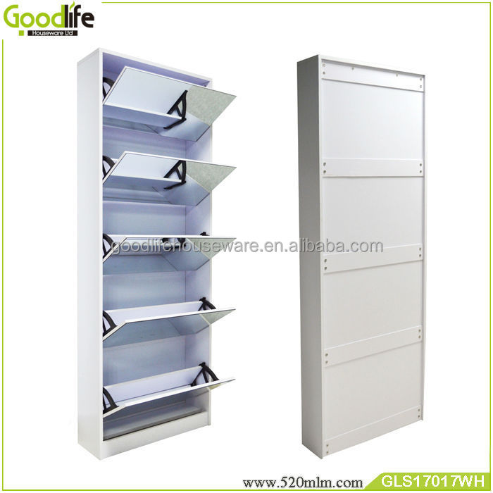 Wooden Shoe Cabinet With Mirror Sale To Australia