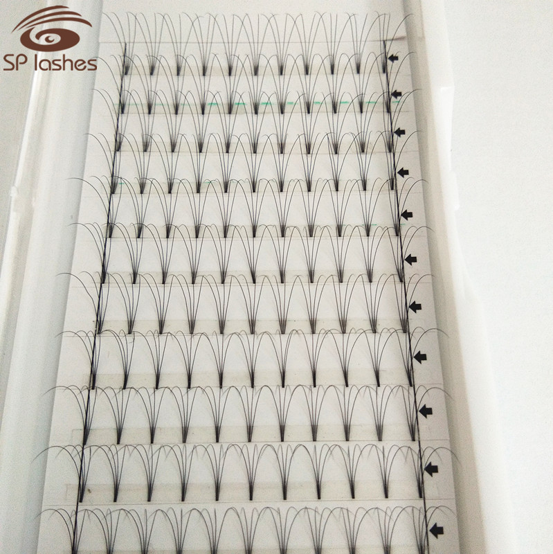 12 rows lashes 4D 0.07 D 13mm length volume fans without glue premade Russian false eyelashes