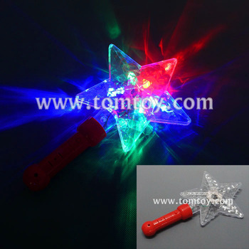 2018 Custom LED Light Up Star Wands And Flashing Stick