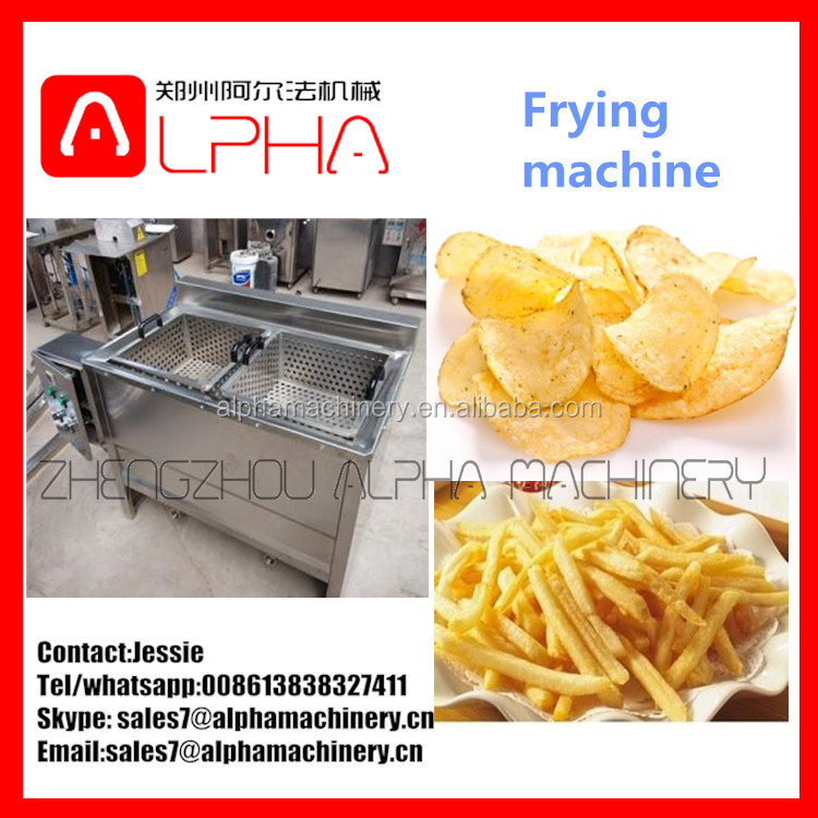 Meatball fryer/banana chips fryer machine/potato chips conveyor fryer machine