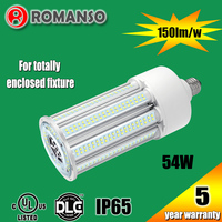 China supply ip65 waterproof outdoor led post top light ,led garden light , led corn light 54w