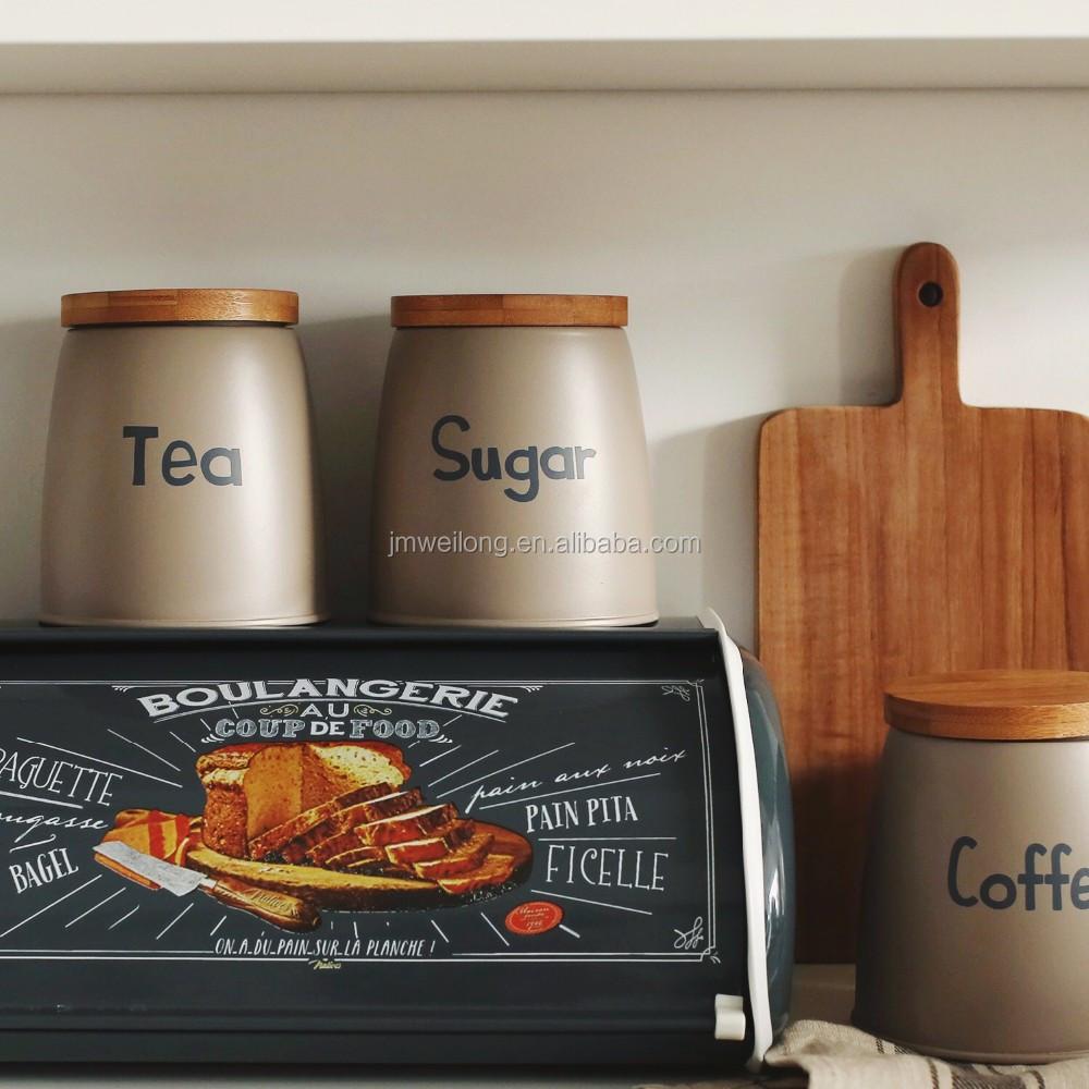 home decorative metal sealed coffee tea sugar canister kitchen tin home decorative metal sealed coffee tea sugar canister kitchen tin jar